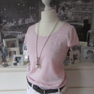 Esprit * Süßes Basic Shirt * rosa-weiß meliert * M=36/38 TOP