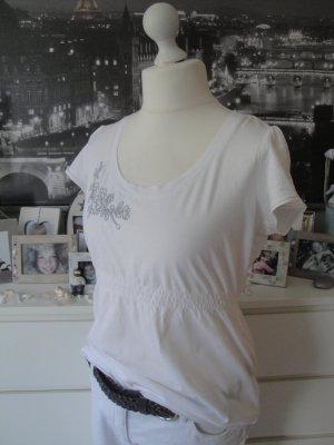 Esprit Camisa larga blanco-color plata