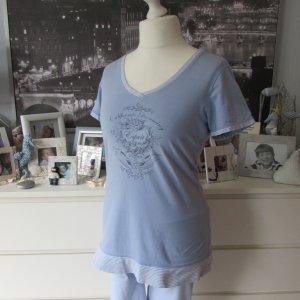 Esprit Pyjama azuur-wit