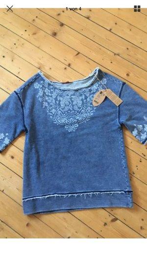 Esprit Sweat Shirt kurzärmlig mit Stickereien neu 60€