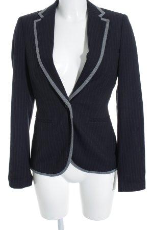 Esprit Sweatblazer dunkelblau-grau Streifenmuster Casual-Look