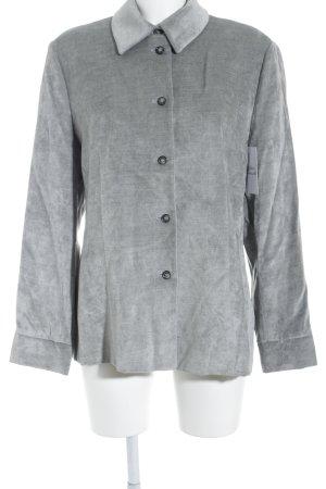 Esprit Sweatblazer grau-silberfarben Schimmer-Optik