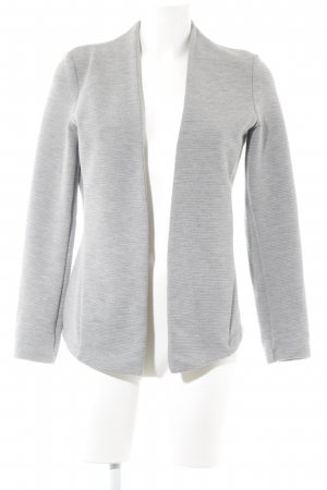 Esprit Sweatblazer hellgrau Streifenmuster Business-Look