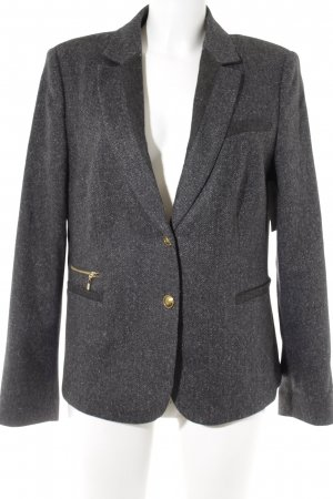 Esprit Sweatblazer taupe-wollweiß Zackenmuster Business-Look