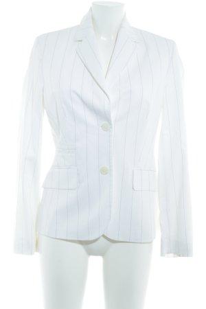 Esprit Blazer de tela de sudadera blanco puro raya diplomática elegante