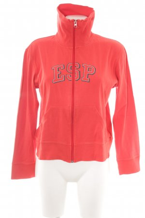 Esprit Sweat Jacket red printed lettering athletic style