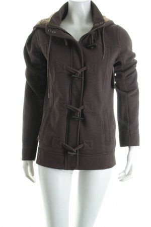 Esprit Sweatjacke braun Street-Fashion-Look