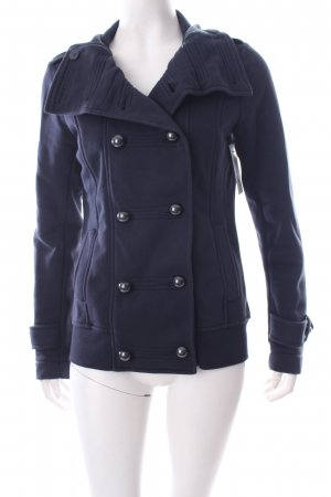 Esprit Sweatjacke dunkelblau Military-Look