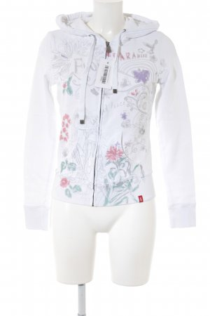 Esprit Sweatjacke florales Muster Casual-Look