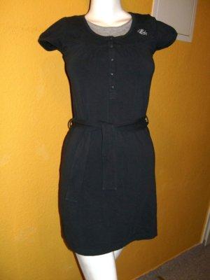 Esprit Vestido corte imperio azul oscuro-color plata Algodón