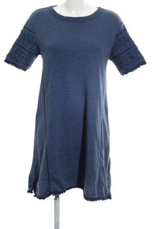 Esprit Sweatkleid blau Steppmuster Beach-Look