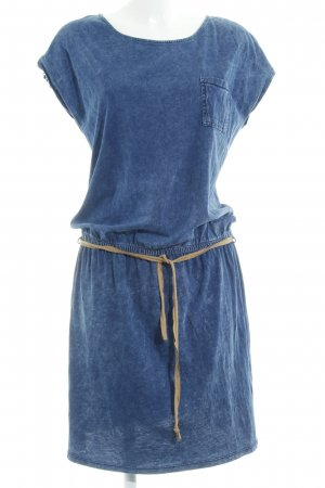 Esprit Sweatkleid dunkelblau Jeans-Optik