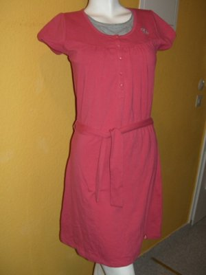 Esprit Empire Dress pink-silver-colored cotton