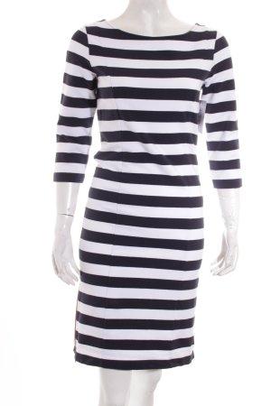 Esprit Sweatkleid weiß-dunkelblau Streifenmuster Casual-Look