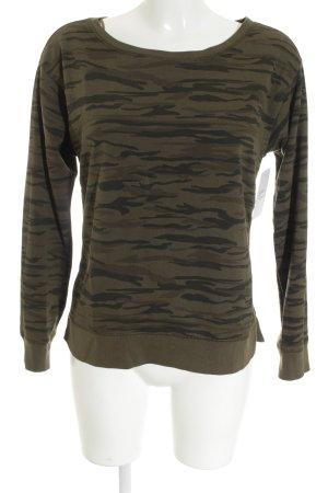 Esprit Sweatshirt dunkelgrün-khaki Military-Look