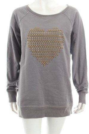 Esprit Sweatshirt grau Herzmuster Street-Fashion-Look