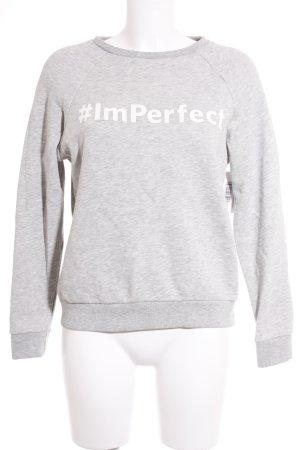 Esprit Sweatshirt hellgrau-weiß meliert sportlicher Stil