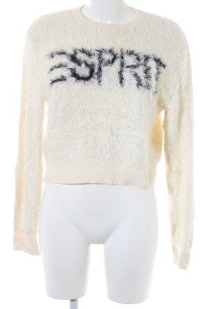 Esprit Sweatshirt weiß-schwarz Casual-Look