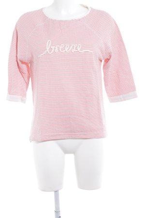 Esprit Sweatshirt wollweiß-rosa Schriftzug gestickt Casual-Look