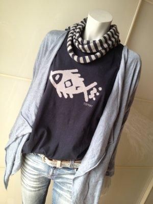ESPRIT T-Shirt Baumwolle, Dunkelblau mit Fisch, Gr. L