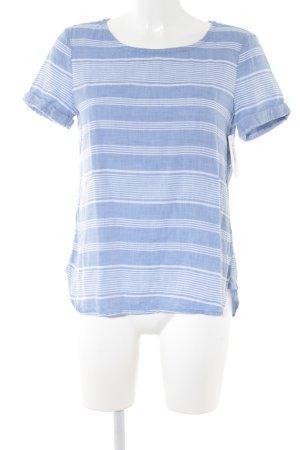 Esprit T-Shirt blassblau-weiß Streifenmuster Casual-Look
