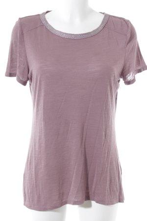 Esprit T-Shirt blasslila-silberfarben Casual-Look