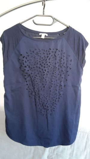 Esprit Oversized Shirt dark blue-blue