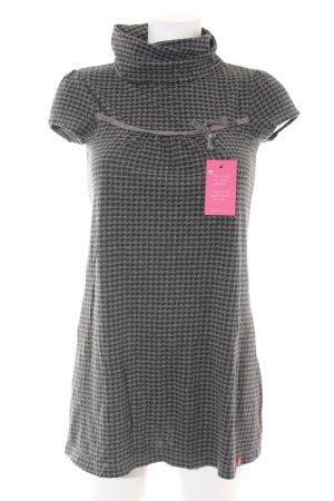 Esprit T-Shirt dunkelgrau-schwarz Hahnentrittmuster Casual-Look