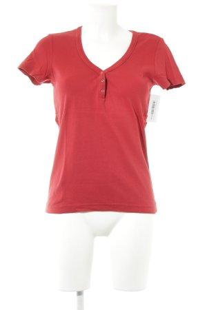 Esprit T-Shirt dunkelrot Casual-Look