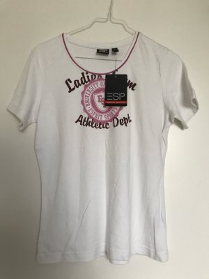 Esprit T Shirt, Gr 34, neu, weiß