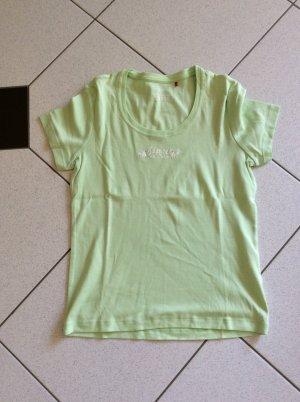 Esprit T-Shirt Gr. L mit Glitzer lindgrün