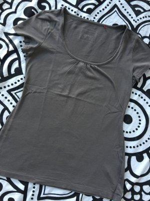 Esprit T-Shirt Gr. S braun kurzarm Shirt rundhals