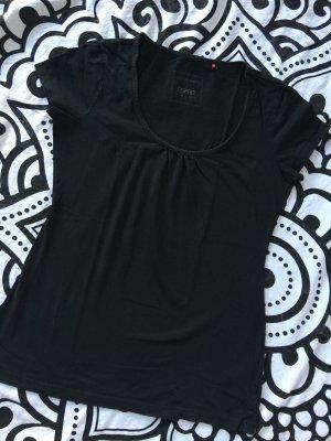 Esprit T-Shirt Gr. S schwarz Shirt kurzarm rundhals