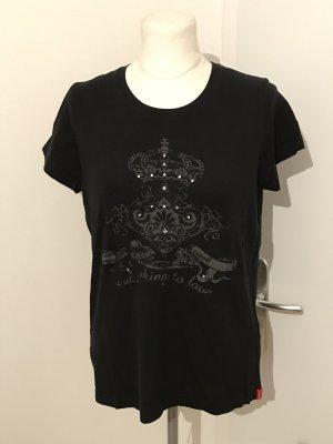 Esprit T-Shirt Gr.XXL Gr.44 schwarz mit Strass