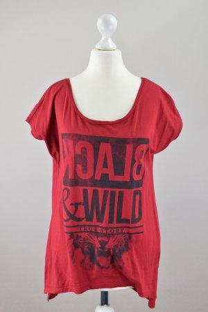 Esprit T-Shirt mit Aufschrift rot Größe XS