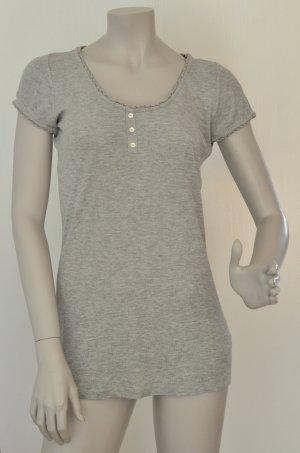 Esprit T-Shirt mit Lochmuster Viskose grau Gr. L – sehr guter Zustand