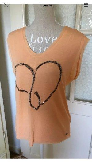 Esprit T-Shirt mit tollen Stickereien neu