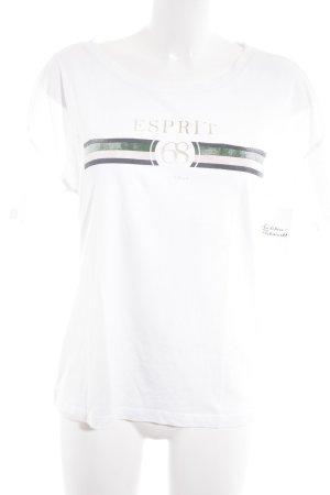 Esprit T-Shirt Monogram-Muster sportlicher Stil