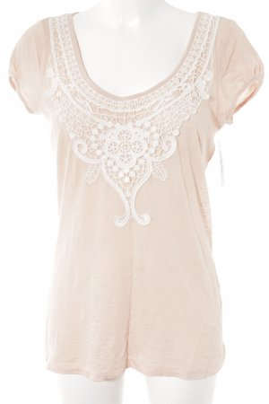 Esprit T-Shirt nude-weiß meliert Casual-Look