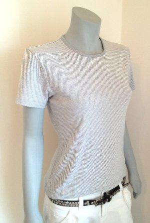 ESPRIT T-Shirt Ringelshirt Gr. L weiß grau gestreift Rundhals