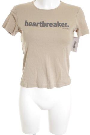 Esprit T-Shirt sandbraun sportlicher Stil