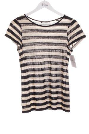 Esprit T-Shirt schwarz-creme Streifenmuster Business-Look
