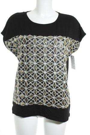 Esprit T-Shirt schwarz-goldfarben Casual-Look