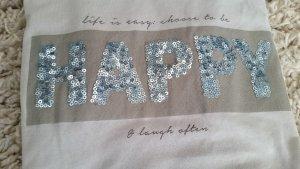 Esprit T-Shirt Shirt mit Pailletten Happy