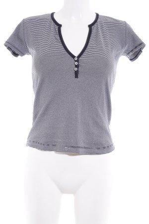 Esprit T-Shirt weiß-dunkelblau Streifenmuster Casual-Look