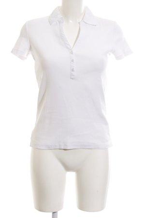 Esprit T-Shirt weiß Schriftzug gestickt Casual-Look