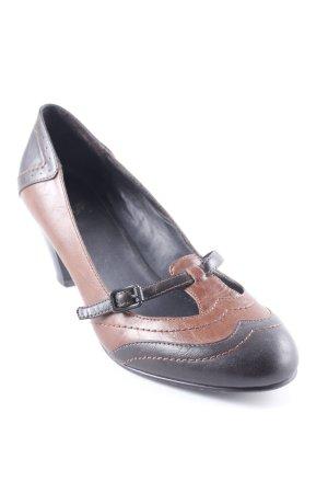 Esprit T-Strap Pumps cognac-coloured-dark brown casual look