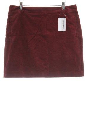 Esprit Falda de tafetán rojo oscuro estilo College