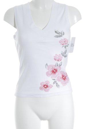Esprit Tanktop weiß florales Muster Casual-Look