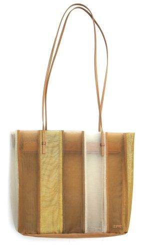 Esprit Tasche - halb-transparent, gold, weiß, braun, metallic